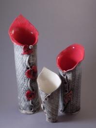 Lily Vases, porcelain