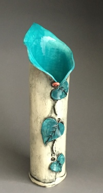 Turquoise Lily Vase