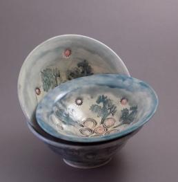 Blue Sky Bowls, small, porcelain