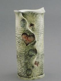 Love Letter Vase, porcelain