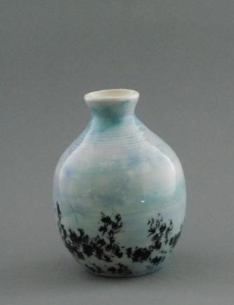 Blue Sky Bud Vase, porcelain