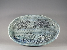 Cloud & Sea Serving Dish, porcelain