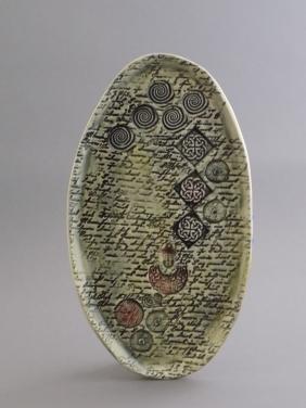 Zen Letter Platter, porcelain