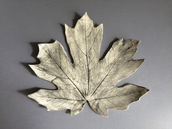 Leaf Platter, porcelain