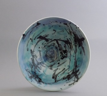 Watercolor Serving Bowl, porcelain